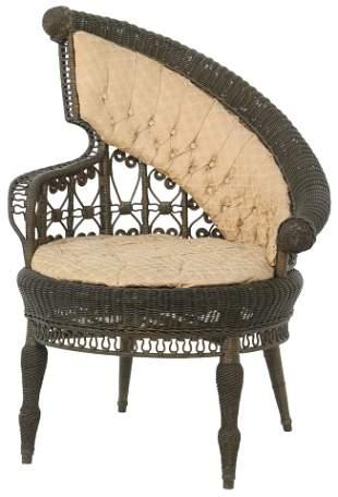 American Victorian Wicker Chair