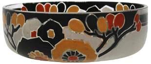 Quenvit Art Deco Enameled Bowl