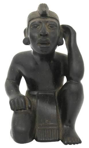 Pre-Columbian Dark Stone Figure
