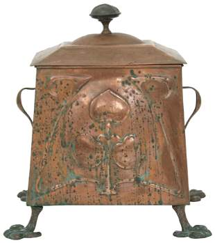 English Arts & Crafts Copper Coal Scuttle