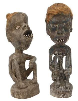 Two Papua New Guinea Carved Figures