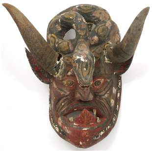 Mexican Polychrome Dance Mask