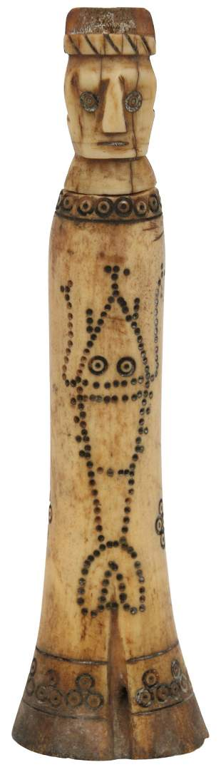Scrimshaw Carved Needle Case