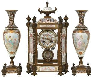 Tiffany & Co. Sèvres Style Clock Garniture