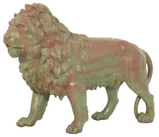 Robert Wood & Co. Cast Iron Lion Figure