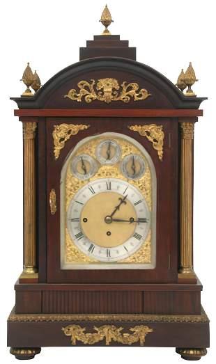 English Mahogany & Gilt Bronze Bracket Clock