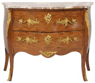 Louis XV Gilt Bronze Mounted Fruitwood Commode