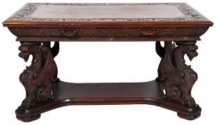 R.J. Horner & Co. Mahogany Partner's Desk