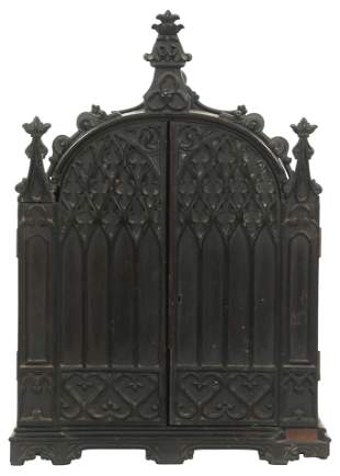Gothic Revival Collector's Cabinet