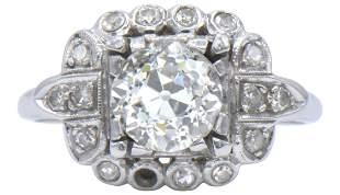 Platinum & 1.68 Carat Diamond Ring