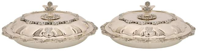 Pair of Tiffany & Co. Silver Vegetable Dishes