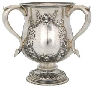 Gorham Sterling Silver Three-Handled Loving Cup