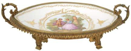 Sèvres Bronze Mounted Porcelain Centerpiece