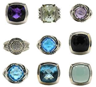 Group of David Yurman Silver Rings