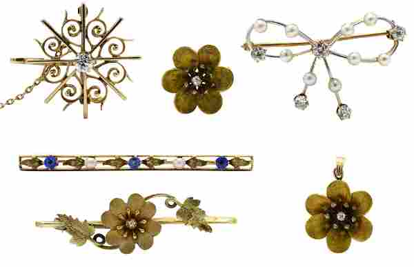 Group of 10 Karat Gold Jewelry