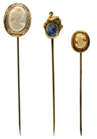 Three Hat Pins
