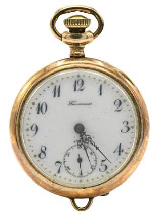 Tavannes 10 Karat Gold Open Face Pocket Watch