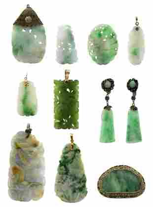 Group of Jade Items