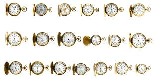 Group of Waltham Pocket Watches