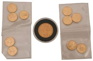 Lot of Eleven American Gold Coins