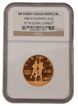 1984 S Olympics $10 Gold Coin