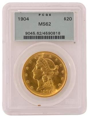1904 Liberty Head Double Eagle $20 Gold Coin