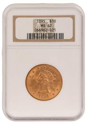 1895 $10 Liberty Head Gold Eagle Coin