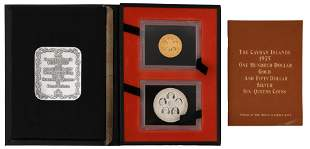 1975 Cayman Islands Gold & Silver Coins