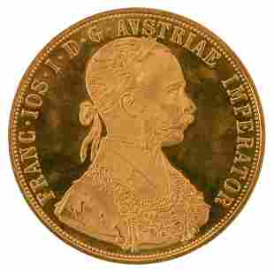 1915 Austrian Gold 4 Ducat Coin