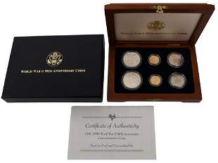 1991-1995 World War II Commemorative Six-Coin Set