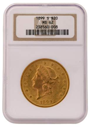 1899-S Liberty Head Double Eagle $20 Gold Coin