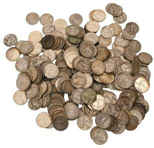 Lot of 245 Silver Quarters