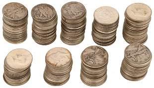 Lot of 178 American Silver Half Dollars