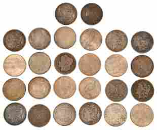 Lot of 26 Silver Dollars