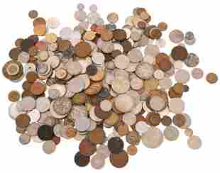 Lot of Mostly Foreign Coins