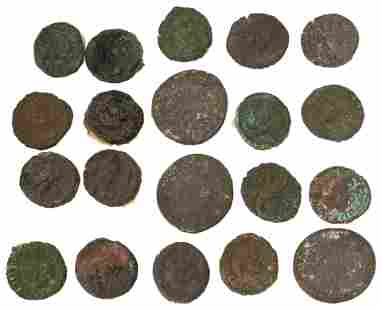 Group of 21 Roman Coins