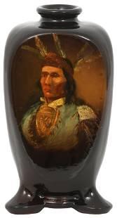 """Weller """"Louwelsa"""" Indian Vase"""