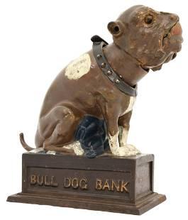 """J. & E. Stevens """"Bull Dog Bank"""" Mechanical Bank"""