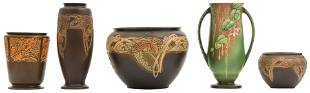 Roseville Pottery Jardinieres & Vases