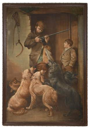 Attributed to A. le Cortez, Hunting Scene