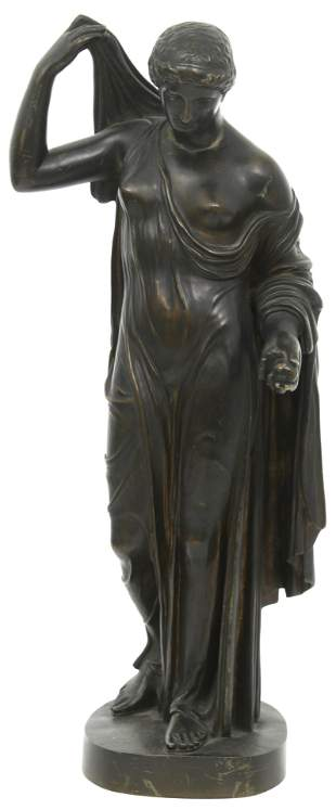 French Bronze Sculpture of Diana of Gabii