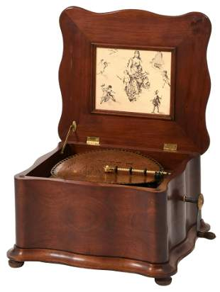 Regina Music Box with Serpentine Case