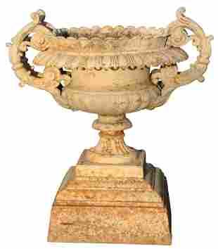 American Cast Iron Four-Handled Urn