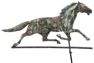 American Copper & Zinc Horse Weathervane