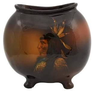 Louwelsa Weller Art Pottery Pillow Vase