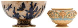 Royal Doulton Punch Bowl & Royal Worcester Bowl