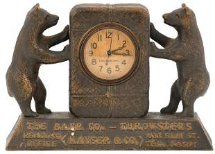 """The Baer Co. """"Throwsters"""" Advertising Clock"""