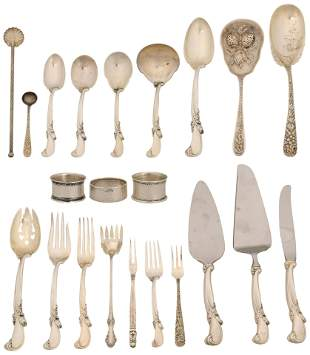 Sterling Silver Flatware Set with Odd Pieces