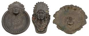 Group of Three Bronze & Cast Iron Indian items