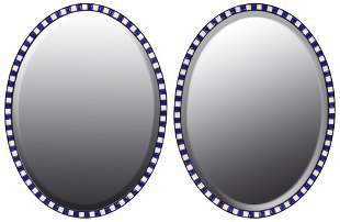 Mirror Fair, New York, Pair of Oval Mirrors